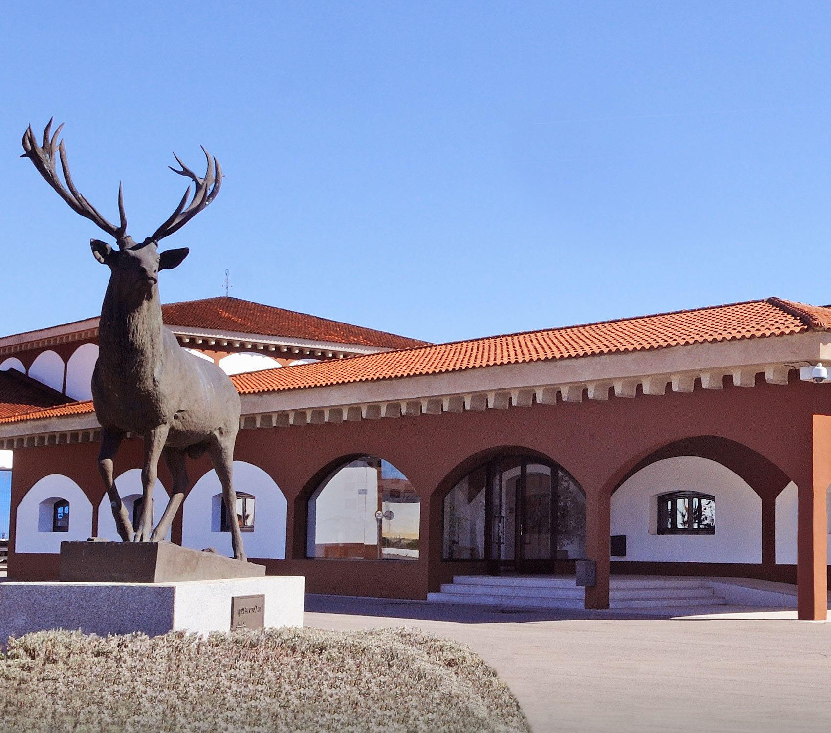 Entrance and El Coto de Rioja stag